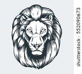 lions head vector illustration  ...   Shutterstock .eps vector #552090673