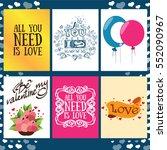 set greeting cards for... | Shutterstock .eps vector #552090967