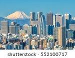 Tokyo Skyline And Mountain Fuj...