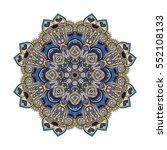flower mandalas. vintage... | Shutterstock .eps vector #552108133