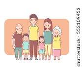 big family generation happy... | Shutterstock .eps vector #552109453