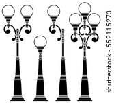street lamps collection lantern | Shutterstock .eps vector #552115273