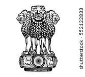 emblem of india | Shutterstock .eps vector #552122833