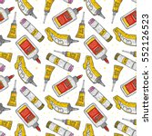 cartoon glue seamless pattern.... | Shutterstock .eps vector #552126523