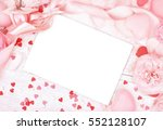 empty card copy space on pastel ... | Shutterstock . vector #552128107