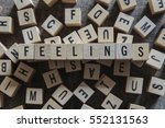 feelings word concept | Shutterstock . vector #552131563