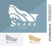 shark symbol icon design....   Shutterstock .eps vector #552132217