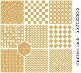 set. seamless geometric...   Shutterstock .eps vector #552132823