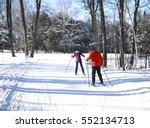 cross country skiing | Shutterstock . vector #552134713