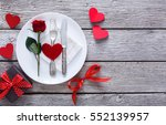 romantic dinner concept.... | Shutterstock . vector #552139957