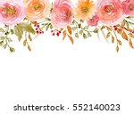 painted watercolor composition... | Shutterstock . vector #552140023