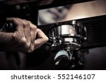 barista making coffee with... | Shutterstock . vector #552146107