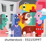 abstract fine art illustration.   Shutterstock . vector #552153997