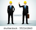 engineer or architect holding... | Shutterstock .eps vector #552161863