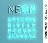 neon character set shining ... | Shutterstock .eps vector #552162673