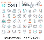 set vector line icons  sign and ... | Shutterstock .eps vector #552171643