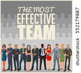 effective business team... | Shutterstock .eps vector #552179887