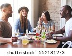 group of four young people... | Shutterstock . vector #552181273
