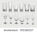 glasses for drinks | Shutterstock .eps vector #552182227