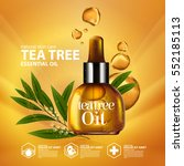 tea tree oil  nature cosmetic... | Shutterstock .eps vector #552185113