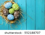 easter card. painted easter... | Shutterstock . vector #552188707