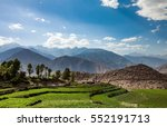 agricultural field spiti valley ... | Shutterstock . vector #552191713