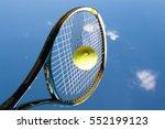 tennis player hit shot ball | Shutterstock . vector #552199123