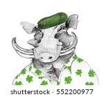 fun st patrick's day humor ... | Shutterstock . vector #552200977
