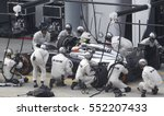 Small photo of SEPANG, MALAYSIA, 30 March 2014: McLaren Mercedes entering crews does pit-stop at the 2014, F1 Petronas Malaysian Grand Prix at Sepang International Circuit.