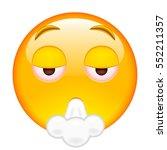 happy smile of emoticon smoking ... | Shutterstock .eps vector #552211357