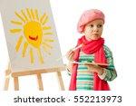Cheerful Little Boy Standing A...