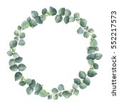 Watercolor Round Wreath With...