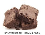 chocolate brownie isolated on... | Shutterstock . vector #552217657