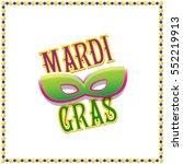mardi gras vector background...   Shutterstock .eps vector #552219913