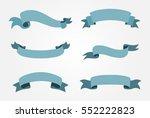 set of ribbons.vector ribbon... | Shutterstock .eps vector #552222823