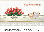 greeting card with ornament on... | Shutterstock .eps vector #552226117