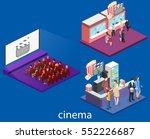 isometric flat 3d concept... | Shutterstock .eps vector #552226687
