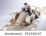 photo of  young racer on a... | Shutterstock . vector #552230137