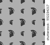 greek helmet silhouette... | Shutterstock . vector #552234217