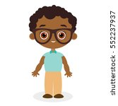african american boy with... | Shutterstock .eps vector #552237937