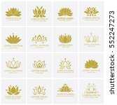 lotus logo set | Shutterstock .eps vector #552247273