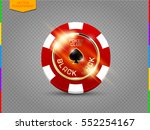 vip poker red and white chip... | Shutterstock .eps vector #552254167