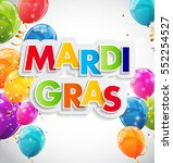 mardi gras party holiday poster ... | Shutterstock .eps vector #552254527