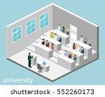 isometric flat 3d concept... | Shutterstock .eps vector #552260173