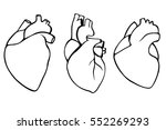 a set of human hearts. vector... | Shutterstock .eps vector #552269293