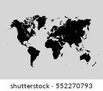 political world map on a gray... | Shutterstock .eps vector #552270793