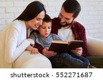 close up of happy family... | Shutterstock . vector #552271687
