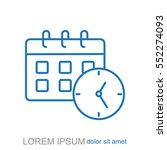line icon office clock with...   Shutterstock .eps vector #552274093