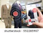 smart retail marketing concept. ... | Shutterstock . vector #552285907