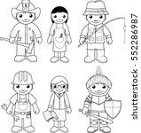 coloring page  set of vector... | Shutterstock .eps vector #552286987